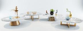 现代金属圆几边几花瓶摆件组合3D模型【ID:927821606】