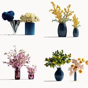 现代装饰花瓶3D模型【ID:320831575】