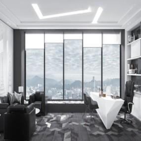 現代總經理辦公室3d模型【ID:950471010】