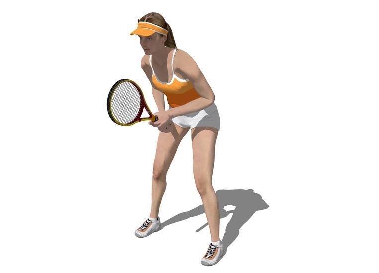 3D網球人物SU模型【ID:836971020】