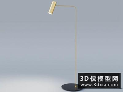 现代落地灯国外3D模型【ID:929417023】