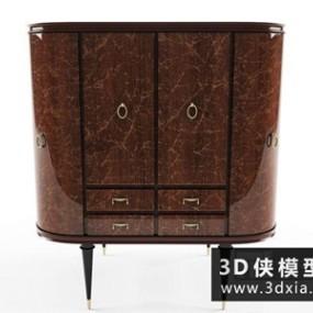 欧式新古典装饰柜国外3D模型【ID:829690066】