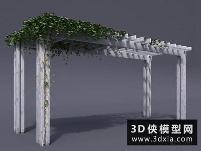 戶外葡萄架國外3D模型【ID:329481364】