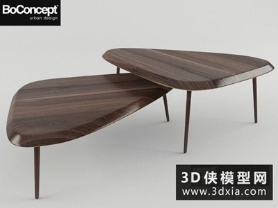 現代茶幾國外3D模型【ID:829648104】