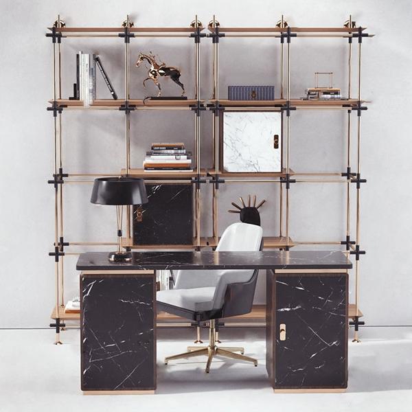 現代辦公室家具組合3D模型【ID:946260052】