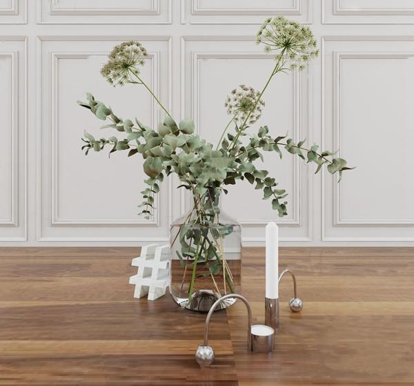 現代玻璃花瓶3D模型【ID:248245426】