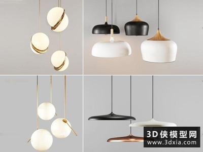 现代吊灯国外3D模型【ID:829344781】
