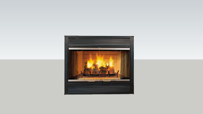 壁爐或電壁爐中的熱與輝光(重新上載)SU模型【ID:940334560】