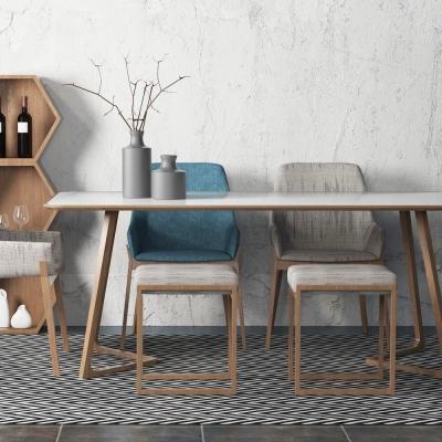 北歐餐桌椅3D模型【ID:328439444】