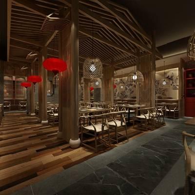 餐厅3D模型【ID:120023895】