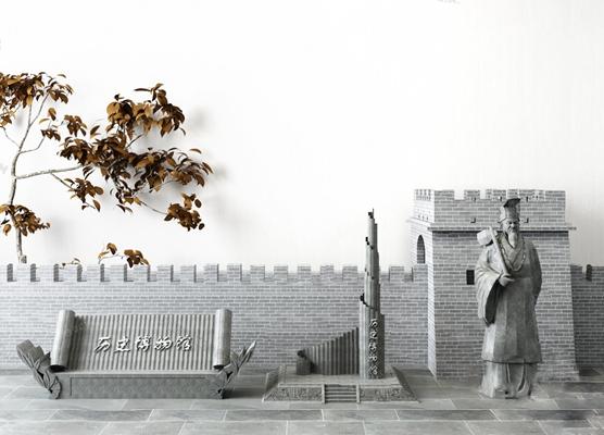 中式雕塑3D模型【ID:326224892】