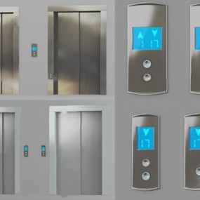 现代电梯3D模型【ID:326235500】