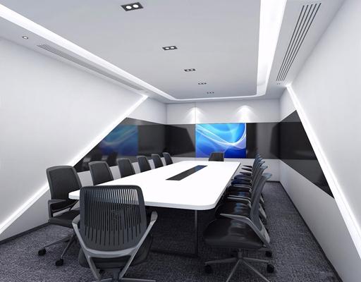 现代会议室3D模型【ID:728104867】