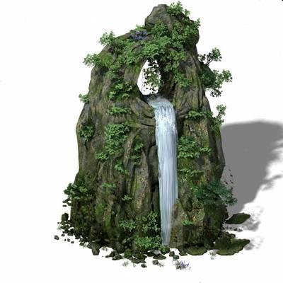 现代假山3D模型【ID:624887095】