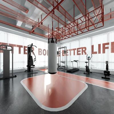 现代健身房3D模型【ID:734114891】
