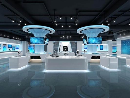 現代科技展廳3D模型【ID:928025510】