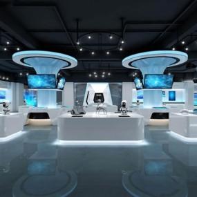 现代科技展厅3D模型【ID:928025510】