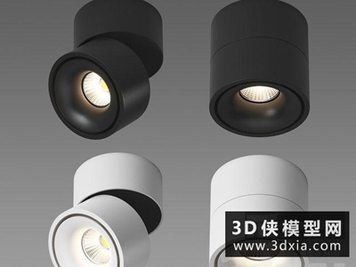 现代明装射灯国外3D模型【ID:929354174】