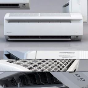 现代挂式空调3D模型【ID:128408469】
