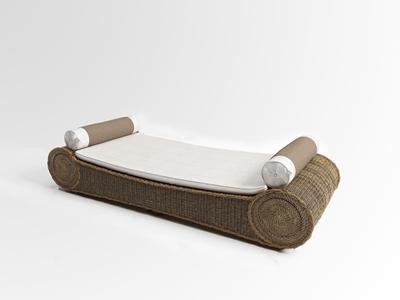现代户外藤椅贵妃椅3D模型【ID:732385389】