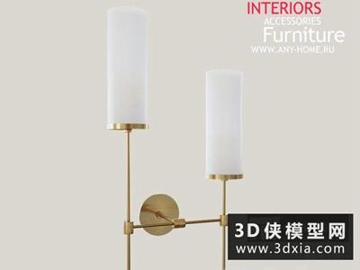 現代壁燈國外3D模型【ID:829379825】