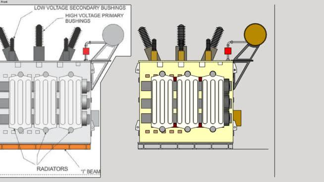 O型操作变电站电力变压器SU模型【ID:140342309】