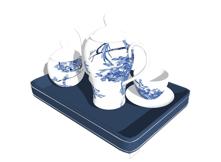茶壺茶杯SU模型【ID:936984438】