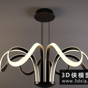 现代吊灯国外3D模型【ID:829425728】