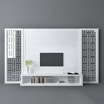 中式电视墙3D模型下载【ID:219505122】
