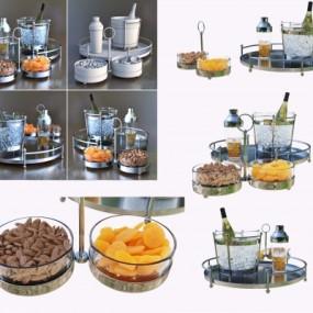 现代酒水冰桶零食3D模型【ID:228425525】