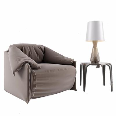 北欧单人沙发3D模型【ID:928338653】