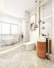 现代浴室卫生间3D模型【ID:927819529】