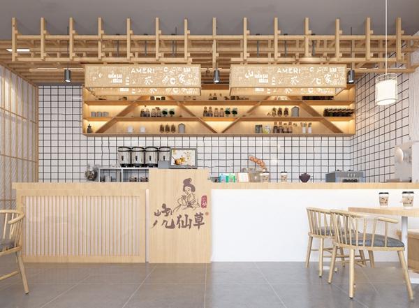 新中式奶茶店3D模型【ID:647179475】