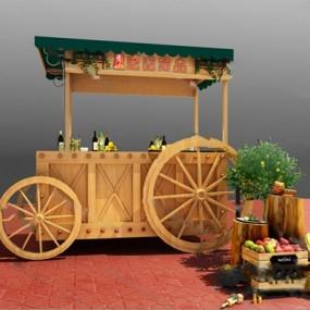 现代餐车3D模型【ID:326233555】