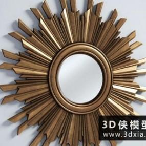 欧式太阳镜子国外3D模型【ID:929409887】