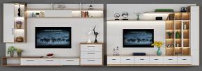 現代電視柜裝飾柜組合擺件3D模型【ID:927822058】