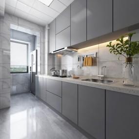 现代厨房3D模型【ID:528285021】
