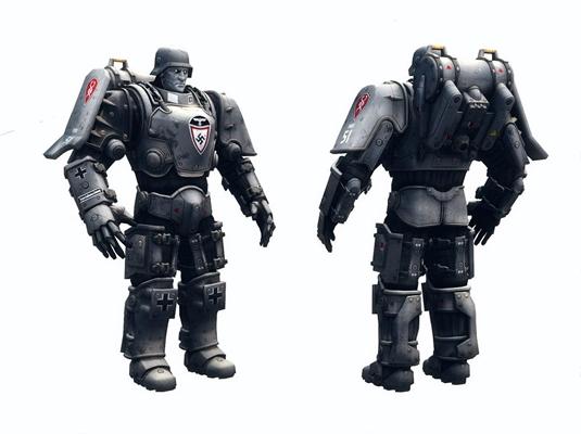 次世代德意志重機甲3D模型【ID:628048561】