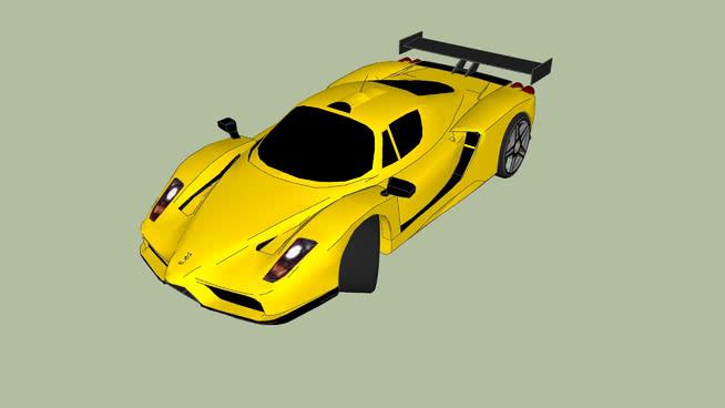 漂亮的黄色小汽车SU模型【ID:439031926】