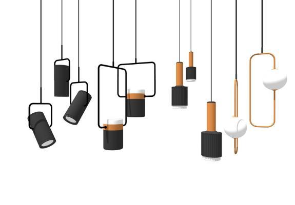 現代吊燈組合SU模型【ID:346381819】