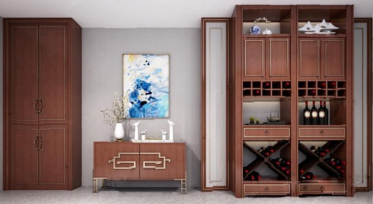 现代酒柜3D模型【ID:926223063】