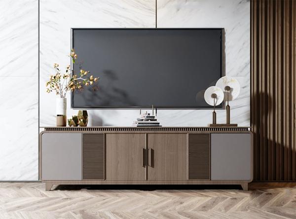 新中式實木電視柜3D模型【ID:947289969】