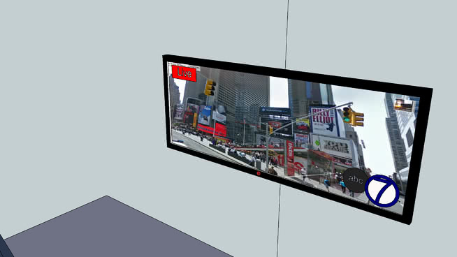 平板電視LG電視機SU模型【ID:940357641】