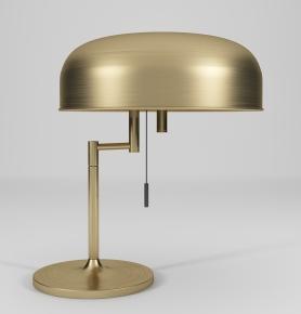 現代圓形金屬拉絲臺燈3D模型【ID:627805136】