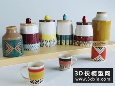 廚房調味瓶罐國外3D模型【ID:129559307】