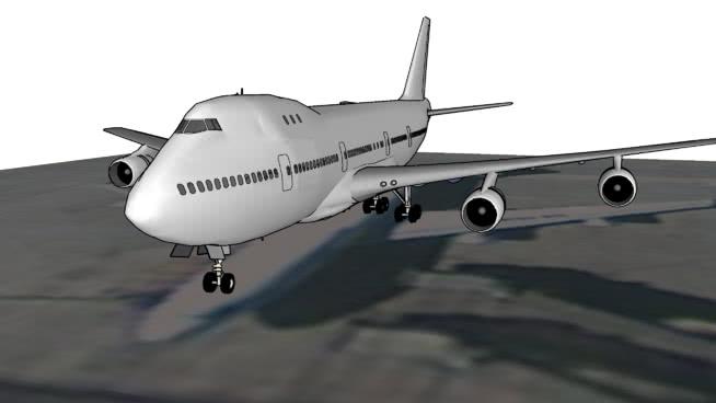 波音747在北□京首都�C�觯�北京,中��SU模型【ID:840359543】