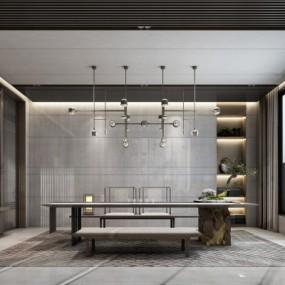 新中式茶室3D模型【ID:327791458】
