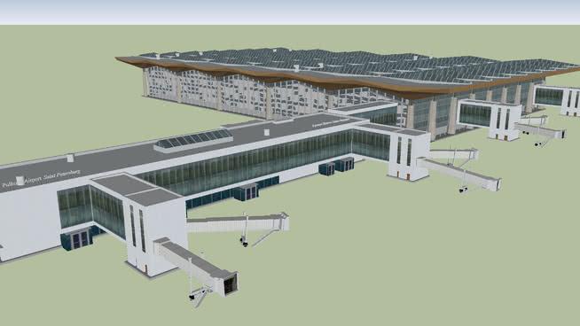 新普尔科沃机场航站楼(俄罗斯圣彼得堡)SU模型【ID:840361504】