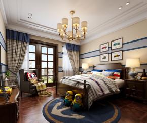 美式卧室儿童房3D模型【ID:127753238】