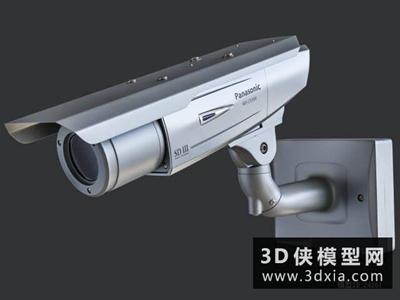 监控摄像头国外3D模型【ID:129350721】